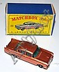 MATCHBOX 1-75 SERIES 22B VAUXHALL CRESTA, METALLIC COPPER, GREEN WINDOWS, BPW, IN D TYPE LESNEY BOX (E BOX G)