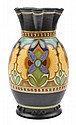 A GOUDA VASE IN THE MADELEINE PATTERNSIGNED KOMPANI PLAZUID