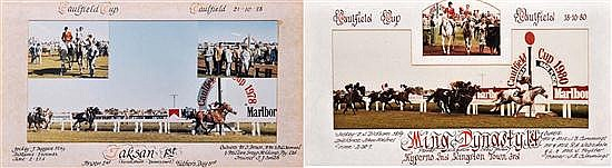 PHOTOGRAPH OF THE FINISH OF THE 1980 CAULFIELD CUP WON BY MING DYNASTY Overall 34cm x 64cm
