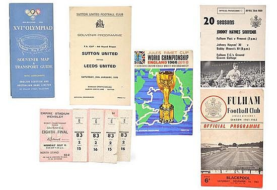 1966 WORLD CUP OPENING CEREMONY PROGRAMME