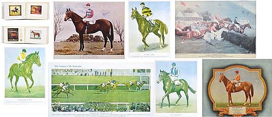 COLLECTION OF PHOTOGRAPHS AND EPHEMERA RELATING TO CHAMPION RACEHORSES