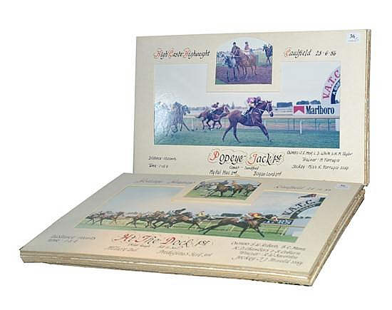 ELEVEN PHOTOGRAPHS OF RACE FINISHES AT CAULFIELD AND FLEMINGTON All overall 25cm x 46cm