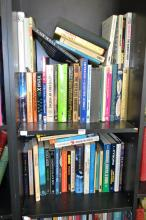 TWO SHELVES OF SCIENCE BOOKS INCL. 'THE SEEDS OF TIME',