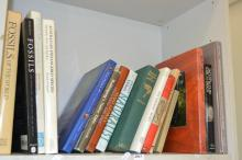A SHELF OF NATURAL HISTORY BOOKS. INCL. FOSSILS OF WORLD AND IDENTIFICATION GUIDE TO THE ANT GENERA OF THE WORLD