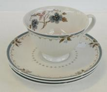 A ROYAL DOULTON 'OLD COLONY' CUP AND SAUCER