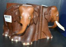 FIGURAL ELEPHANT BOOK ENDS