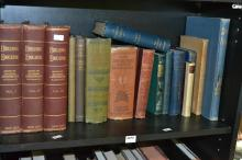 A SHELF OF VINTAGE EDITIONS INCLUDING THREE VOLUMES OF BUILDING EDUCATOR