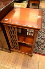 A VICTORIAN STYLE RECTANGULAR FREE STANDING BOOKCASE