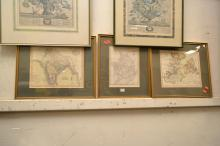 A COLLECTION OF FRAMED MAPS