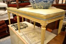 AN ITALIANATE BENCH SEAT BY 'ALEXANDER COOK'