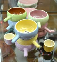 A COLLECTION OF MARTIN BOYD RAMEKINS, PLATES AND EGG CUPS