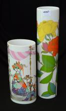 TWO ROSENTHAL STUDIO LINE VASES, INCLUDING ONE COMMEDIA DELL'ARTE BY BJRON WINBLAD, SIGNED