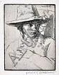 GERALD BROCKHURST (BRITISH, 1890-1978) The White Watcher etching