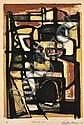 GEOFFREY BROWN (BORN 1926) Thameside II 1959 lithograph 2/14