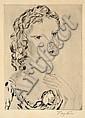 TSUGUHARU FOUJITA (JAPANESE, 1886-1986) Portrait of a Woman with a Rose etching