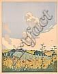 HALL THORPE (1879-1947) Summer woodblock