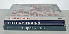3 LUXURY YACHTS AND TRAINS BOOKS