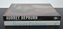 A BOOK ON AUDREY HEPBURN AND ONE ON ASSORTED FASHION