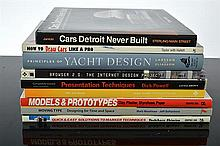 A COLLECTION OF DESIGN AND AUTOMOBILE BOOKS
