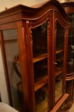 AN ANTIQUE STYLE GLAZED DISPLAY CABINET