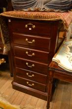 AN ANTIQUE STYLE THREE DRAWER FILING CABINET