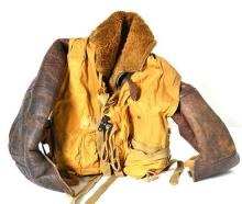 WWII IRVING FLYING JACKET WITH A MAE WEST LIFE PRESERVER