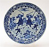A JAPANESE BLUE AND WHITE PLATE 19TH CENTURY