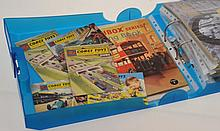 COLLECTION OF MATCHBOX AND CORGI CATALOGUES 1959+ INCLUDING MATCHBOX PAINTING BOOKS (A LOT)