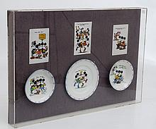 COLLECTION OF RARE MICKEY MOUSE ROYAL PARAGON CHINA largest 17.5cm diameter