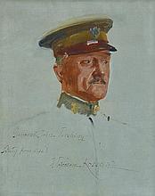 WOJCIECH KOSSAK (Polish, 1856-1942) General John Pershing (Study from Life) oil on canvas laid on board