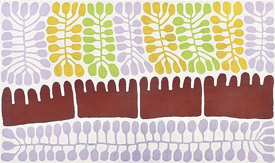 MITJILI NAPURRULA (BORN CIRCA 1945) Uwalki Watiya Tjuta acrylic on linen