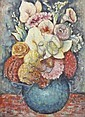 GEORGE BELL (1878-1966) Floral circa 1950 oil on board, George Bell, Click for value