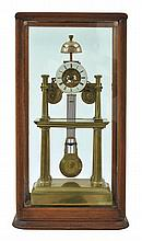 A 19TH CENTURY INDUSTRIAL SKELETON CLOCK PEPIN, PARIS, CIRCA 1890