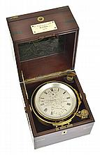 A MARINE CHRONOMETER A. JOHANNEN CO. LONDON, MAKERS TO THE ADMIRALTY AND TO THE ROYAL NAVIES OF SPAIN & PORTUGAL, NO. 3651