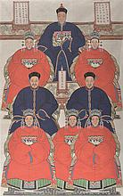 A LARGE CHINESE ANCESTOR GROUP PORTRAIT, LATE 19TH CENTURY/ EARLY 20TH CENTURY