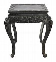 A CHINESE LACQUERED CENTRE TABLE