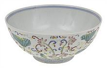 A FAMILLE ROSE ENAMELLED BOWL
