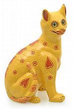 A WEMYSS STYLE POTTERY CAT