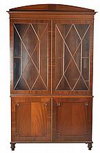 A PAIR OF REGENCY STYLE SIDE CABINETS