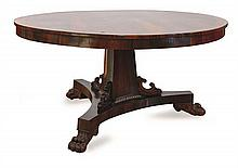 A WILLIAM IV BRASS INLAID ROSEWOOD CENTRE TABLE