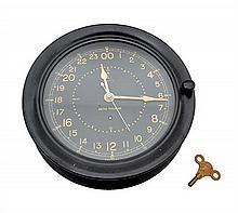 A SETH THOMAS BAKELITE CASED SHIP'S CLOCK CIRCA 1945