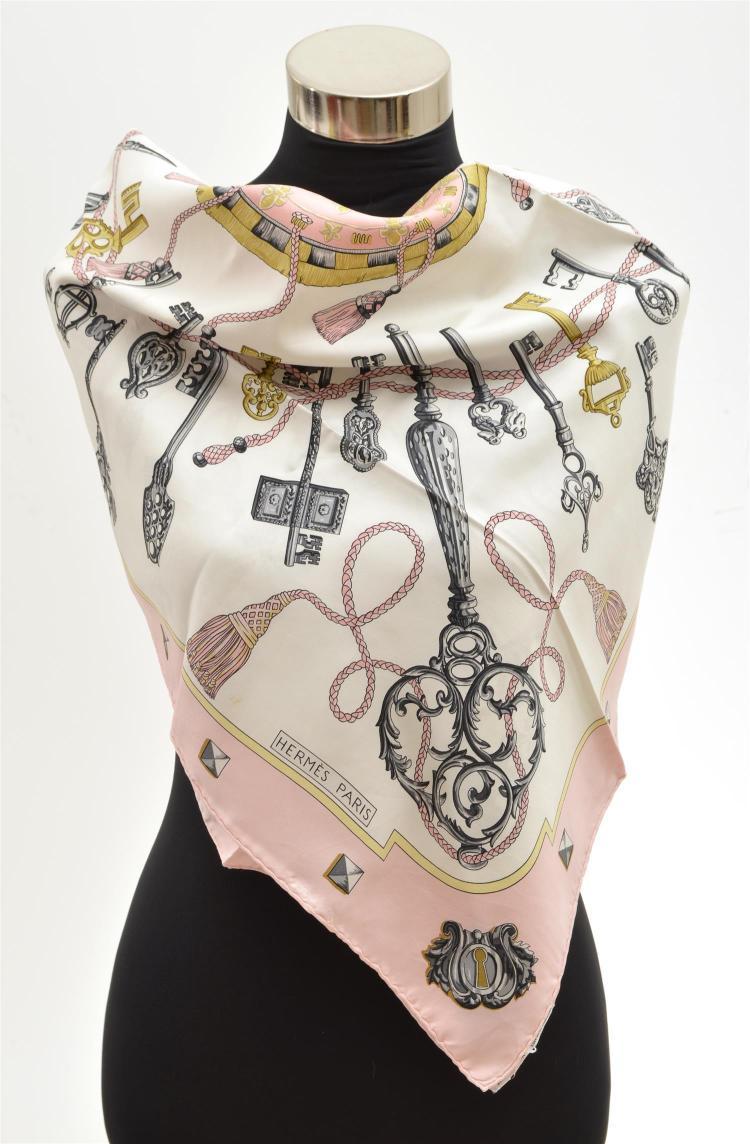 a silk scarf by hermes