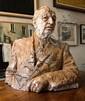 JOHN STUART DOWIE (BORN 1915) Portrait Bust of Thomas Playford 1972 plaster