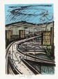 BERNARD BUFFET (FRENCH, 1928-1999) Highway Overpass lithograph E/A