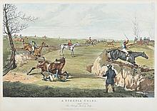 A SET OF SIX STEEPLE CHASE SPORTING PRINTS AFTER HENRY ALKEN (1785-1851), CHARLES BENTLEY (1806-1854) ENGRAVER