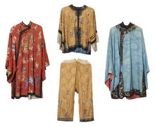 A COLLECTION OF CHINESE SILK JACKETS AND CLOTHING