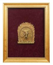 A SKT NARO DAKINI FRAMED AND MOUNTED RELIEF, NEPAL 20TH CENTURY