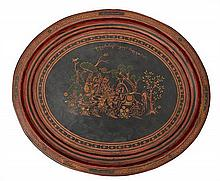 AN EARLY 20TH CENTURY BURMESE LACQUER TRAY