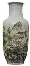 A CHINESE 20TH CENTURY 'JINGDEZHEN' PORCELAIN VASE, WITH MARK