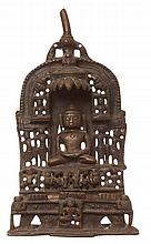 A JAIN BRONZE SHRINE, GUARAT WESTERN INDIA, 18TH/19TH CENTURY